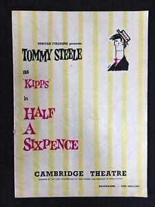 Half A Sixpence 1963 Souvenir Theatre Programme Tommy Steele Cambridge Theatre