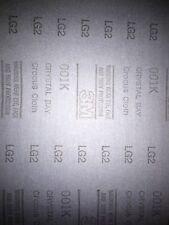 5x  3M Crystal Bay Crocus Coated Abrasive Cloth 1000 Grit 9x11 Waterproof