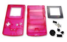 Game Boy Gameboy Color GBC transparente rojo Shell Estuche de CARCASA W Pantalla y Herramientas