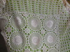 "hand crocheted table cloth vintage 76"" x 48"" Vintage Needle work Gifts Table"