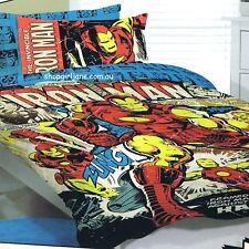Avengers - Invincible Iron Man - Full Bed Quilt Cover Set
