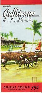 1953 - April 9th - Gulfstream Park program - Ex+.Con