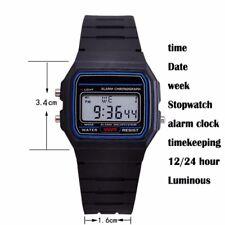 New Sports Alarm Stopwatch Wrist F91W Watch with Casio Resin LCD Digital Retro