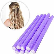 8pc Bendy Hair Rollers Heatless Curlers Twisty Wavy Curl Roller Purple Roller