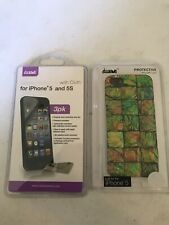 Iphone 5 And 5s Screen Protectors W/cloth And Protective Case Bundle Iwave