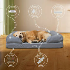 Durable Lounge Dog Pet Bed with a Concave Front and Faux Suede Cover Comfortable