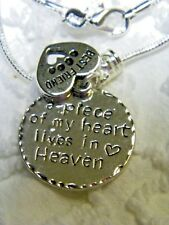 Memorial Memory Dog/Cat Best Friend On Silver Plated 2mm Snake Chain N557