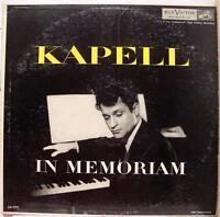 KAPELL in memoriam LP VG+ LM 1791 Vinyl 1954 Record