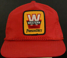 Western Pacesetters Red Baseball Cap Hat Adjustable Snapback Strap