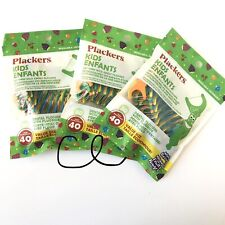 New 3x 40ct Plackers Kids Oral Dental Flossers Floss Picks Mixed Berry 120 Total
