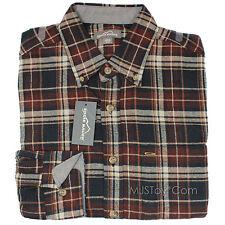 NWT Eddie Bauer Soft Plaid Flannel Men Long Sleeve Shirt in 20 Model Size M/L/XL