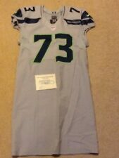"Seattle Seahawks Travian Robertson Game Used Team Issued ""Wolf Grey"" Jersey 2013"