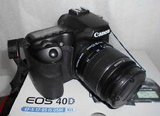 """Canon EOS 40D Fotocamera 10MP LCD 3"""" Filtro Polarizzante  2 Batterie Garanzia"""