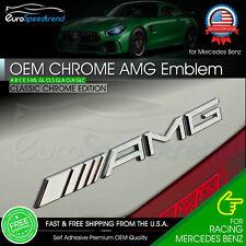 AMG Emblem Chrome Rear Trunk 3D Badge A C E S CL SL G OEM Pre-2013 Mercedes Benz