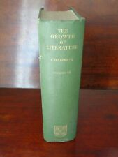 The growth of literature Vol 3 signed  N.K.Chadwick 1940