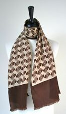 Tailored Geometric 100% Silk Vintage Scarves & Shawls