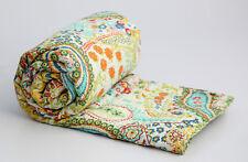 Handgefertigte 100% Baumwolle Kantha Tagesdecke Dekorative Indische Decke Gudari