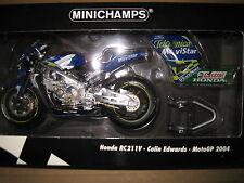 MINICHAMPS 1:12 HONDA RC211V TELEFONICA  COLIN EDWARDS MOTO GP 2004  MOTOR BIKE
