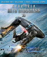 STAR TREK INTO DARKNESS 2013 (3D Blu-ray Blu-ray DVD Dig. Copy NEW! Chris Pine