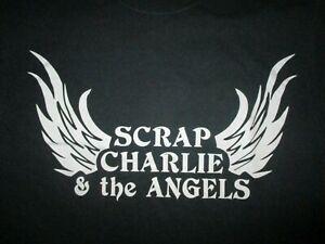 SCRAP CHARLIE & ANGELS T SHIRT Band Concert Tour Local Random Wings MEDIUM