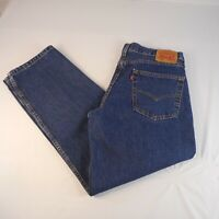 Levis 550 Relaxed Fit Blue Denim Jeans Mens Size 36x32 Red Tab 100% Cotton