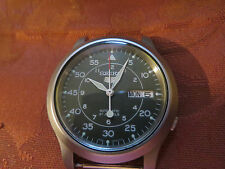 SEIKO MILITARY STYLE DAY DATE AUTOMATIC WATCH, SPARES OR REPAIRS.