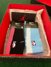 Nike Elite Socks Size Large (8-12) Bundle (2 Pairs) Black/Pink and Blue/White