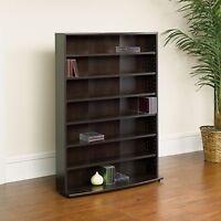 Multimedia Storage Tower Media Cabinet Shelf Rack Orginazer CD DVD Stand NEW