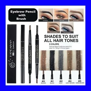 Stereo Eyebrow PENCIL & BRUSH - Fine Brow Definition Shaper - Waterproof Liner