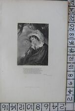 c1850 ANTIQUE PRINT ~ DON JUAN POEM LORD BYRON