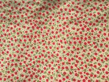Fabric job lot, 2m soft cotton lawn fabric, red ditsy floral #2