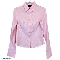 Tokito Womens Pink Striped Long Sleeve Button Up Blouse Size 10