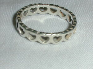 JAMES AVERY STERLING SMALL OPEN HEART BAND RING- SIZE 6 3/4!