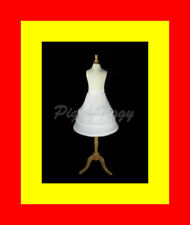 "3-Hoop Cotton Flower Girl Pageant Dress Crinoline Petticoat Skirt Slip 19"" M"