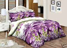Lilacgreenfloral __ Super King __ 100% Algodón Percal qualityprinted duvet cover set