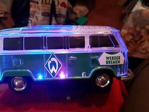 VW T1Kult BULLI Werder Bremen Bluetooth Lautsprecher LED BT,MP3,USB,Radio