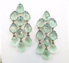 Handmade Natural Gemstone Earrings, Green fluorite chandelier earrings,