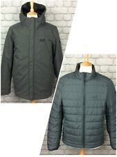 JACK WOLFSKIN MENS UK M DARK GREY GLENCOE SKY III 3 IN 1 JACKET COAT RRP £200 C