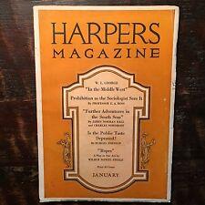 Harpers Magazine 1921. WW1. Adventure in South Seas. Animal Allies in World War.
