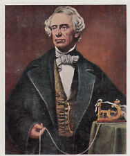 N°161 Samuel Finley Breese Morse Code invention telegraph USA IMAGE CARD 30s