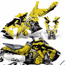 Sled Wrap for Polaris AXYS RUSH Pro S Graphic Snow Decal Kit Snowmobile REAP YLW