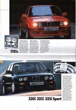 BMW 1990-91 UK Market Sales Brochure 3-Series Z1 5-Series 7-Series 8-Series