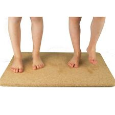 Luxury Natural Rectangular Cork Bath & Non Slip Shower Mat 60cm x 45cm x 1.5cm
