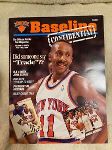 Knicks Baseline Confidential Feb-March, 1994 Charles Oakley Signed Centerfold