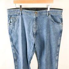 Wrangler Straight Leg Jeans Womens Sz 42/29 Stretch Waist Medium Wash Blue