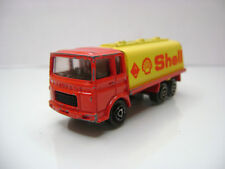 """Diecast Majorette Saviem """"Shell"""" in Red/Yellow Good Condition"""