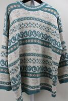 Moda International Acrylic & Metallic Blend Multi-Colored Long Sweater Size - 3X