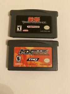 nintendo gameboy Advance Game Lot ( Tekken Advance & Mx 2002)