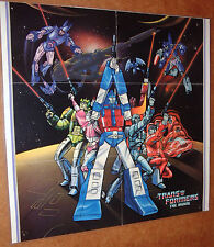 TRANSFORMERS THE MOVIE MAILORDER POSTER; 1986; LAMINATED! L@@K