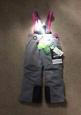 Size 4 Girls Ski Pants - Grey and Pink